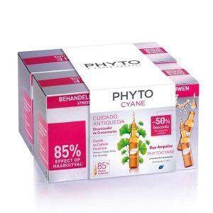 Phyto DUO Phytocyane Cuidado Antiqueda Dinamizador do Crescimento Ampolasx12