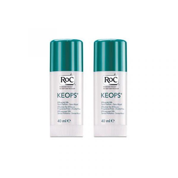 RoC Keops Pack Duo Stick Desodorizante 24h SEM SAIS ALUMINIO 2x40ml