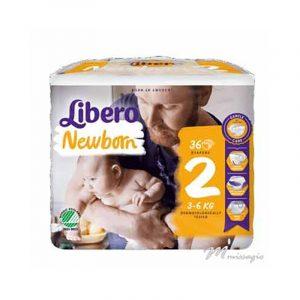 Libero NewBorn 2 Fralda 3-6 Kg Pack 36 Fraldas