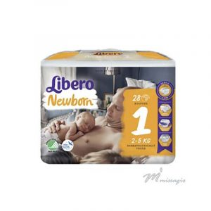 Libero NewBorn 1 Fralda 2 - 5 Kg Pack 28 Fraldas