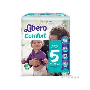 Libero Comfort 5 Fralda 10-14 Kg Pack 24 Fraldas