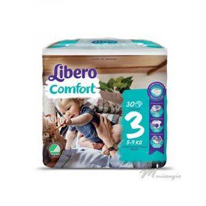 Libero Comfort 3 Fralda 5-9 Kg Pack 30 Fraldas