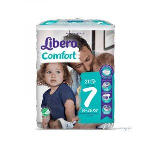 Libero Comfort 7 Fralda 16 - 26 Kg Pack 21 Fraldas