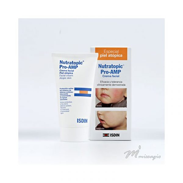 ISDIN Nutratopic Pro-AMP Creme Facial Especial Pele Atópica 50mL OFERTA Nutratopic Pro-AMP Gel Banho 50ml