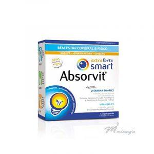 Absorvit Smart Extra Forte - Tónico Cerebral e Físico 30 ampolas