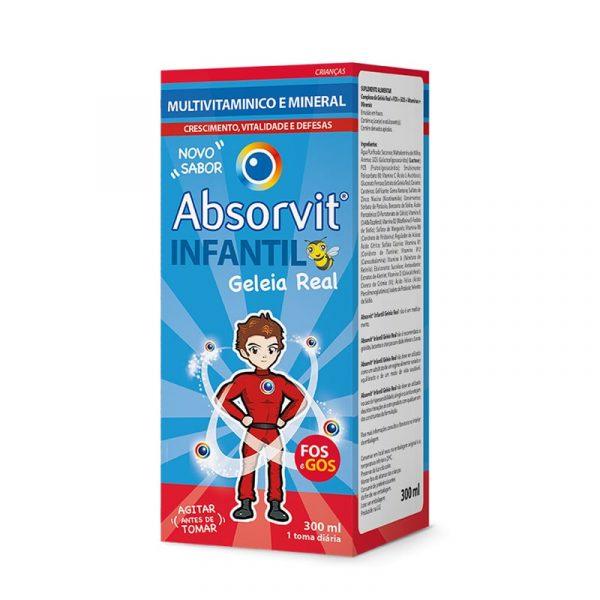 Absorvit Infantil Multivit Geleia Real com FOS e GOS 300ml