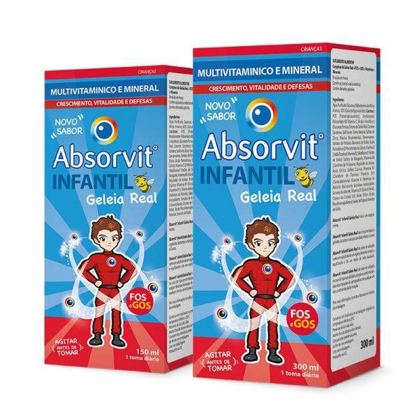 Absorvit Infantil Multivit Geleia Real com FOS e GOS