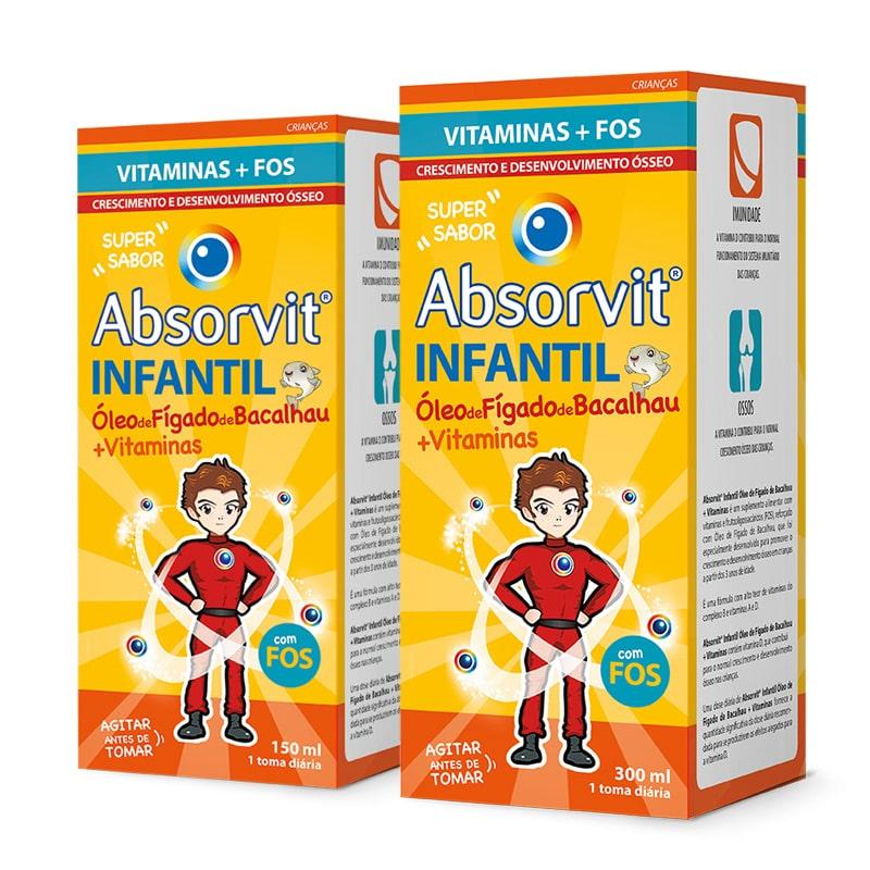 Absorvit Infantil Multivit Óleo de Fígado de Bacalhau com FOS GOS