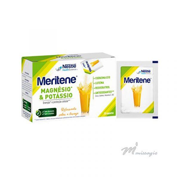 Nestlé Meritene Magnésio + Potássio Saquetas Sabor a Laranja 4,2g x20