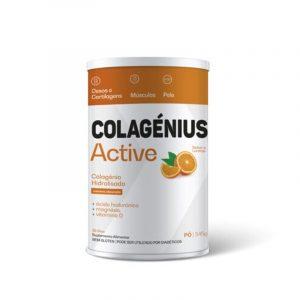 Colagenius Active LARANJA - Mágnésio Ácido Hialurónico Vit C e D 345g