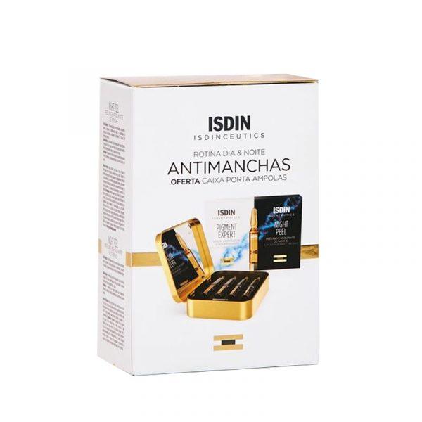 ISDINCEUTICS Rotina DAY&NIGHT Antimanchas ampolas 2x10 ampolas oferta caixa porta ampolas