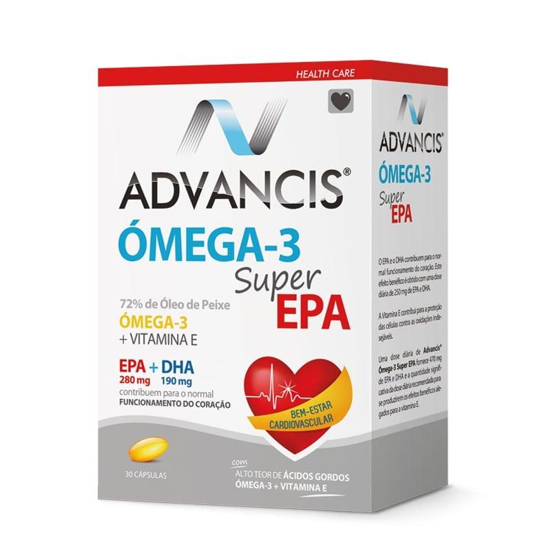 Advancis Ómega-3 Super EPA - Bem-Estar Cardiovascular 30 cápsulas
