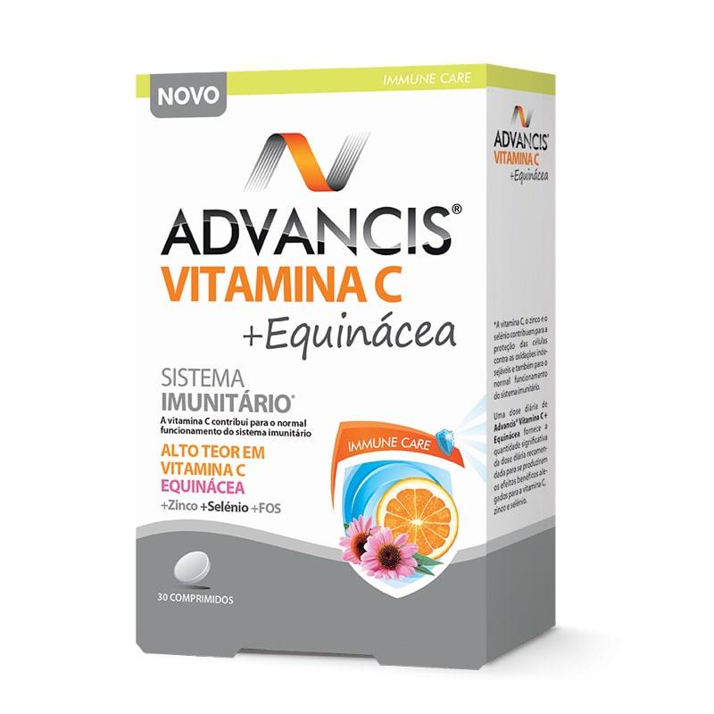 Advancis Vitamina C + Equinácea - Sistema Imunitário - 30 comprimidos