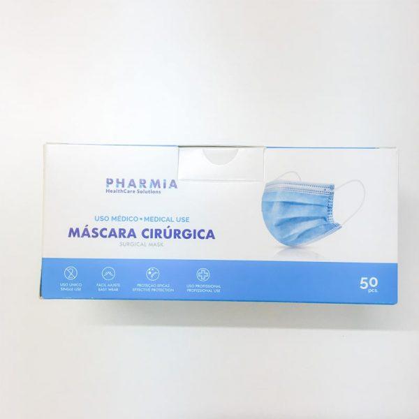 Máscara Cirúrgica Tipo IIR Pharmia R-3L0207 cx 50 unidades lateral