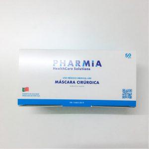 Máscara Cirúrgica Tipo IIR Pharmia R-3L0207 cx 50 unidades topo