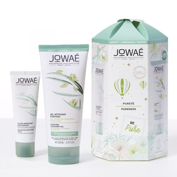 Coffret Jowaé Be Pure Fluído Matificante Equilibrante + Gel Limpeza Purificante
