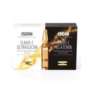 ISDINCEUTICS Pack Flavo C Ultraglican Sérum + Flavo C Melatonina 10x2ml ampolas