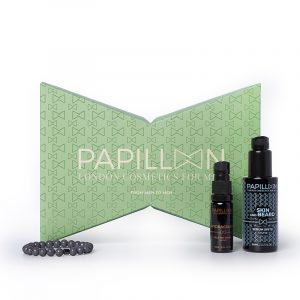 Coffret Papillon London Cosmetics for Men Sérum Beard & Skin + Hydracolor + Pulseira produtos