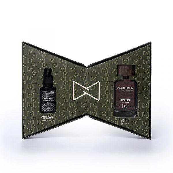 Papillon London Cosmetics for Men Upton Eau de Parfum + Anti-Age + Pulseira Interior Caixa