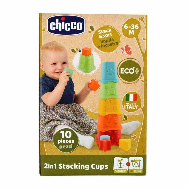 Chicco Brinquedo ECO+ Copos Empilháveis 2em1 6-36M