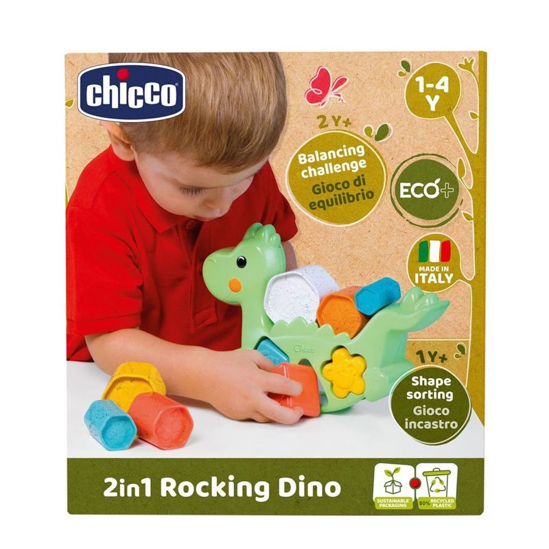 Chicco Brinquedo ECO+ Dino Equilibrista 2em1 1-4A