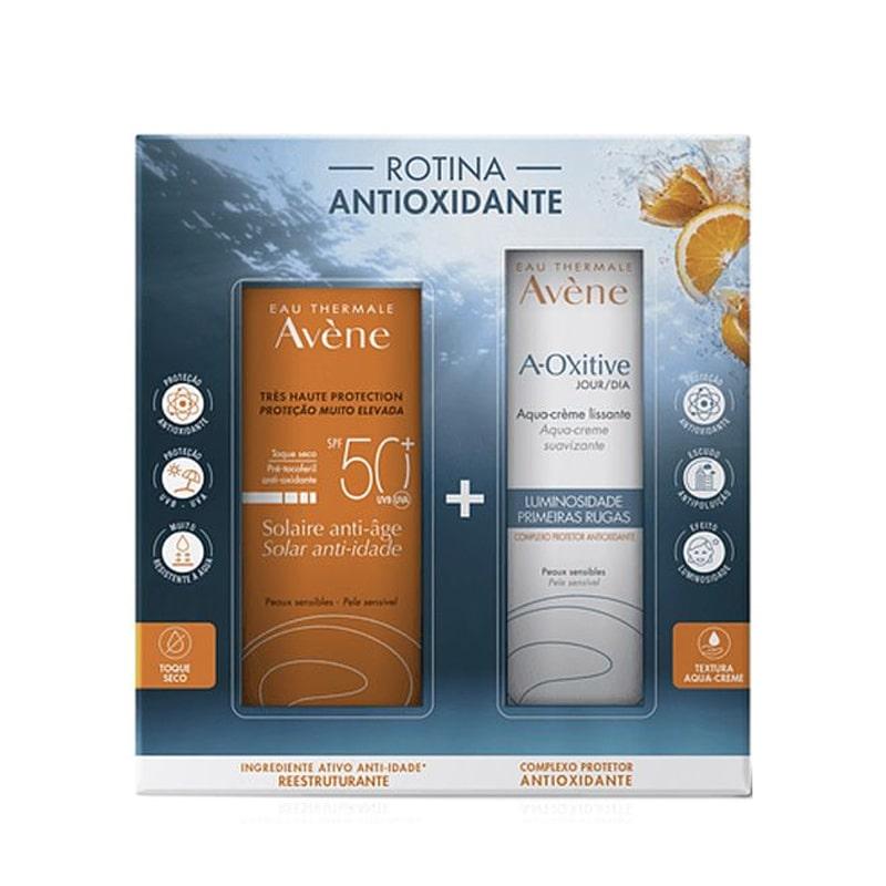 Coffret Avène A-Oxitive Aqua-Creme Dia + Protetor Solar Anti-idade FPS 50+