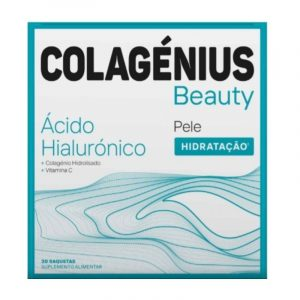 Colagenius Beauty com Colagénio, Ácido Hialurónico e Vitamina C 30cart